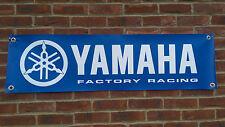 BR38 YAMAHA FACTORY RACING BANNER R1 R6 FZR YZF MOTO GP GARAGE WORKSHOP SIGN