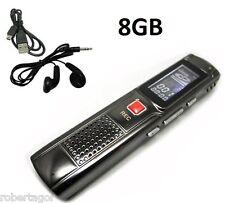 MINI REGISTRATORE DIGITALE 8 GB USB VOCALE SPIA VOX RICARICABILE PER UNIVERSITA