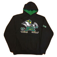 VTG 90s Notre Dame Hoodie Mens Large College Streetwear Pullover Logo Stitched