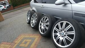 """BMW E46 Genuine M3 - 19"""" OEM Staggered Alloy Wheels with Premium Tyres"""