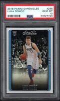 2018 Panini Chronicles #296 LUKA DONCIC RC Studio PSA 10 GEM MINT