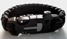 Bracelet de survie/paprcorde noir
