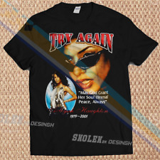Aaliyah T shirt Funny Birthday Cotton Tee Vintage Gift For Men Women