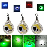 LED Underwater Fish Fishing Night Light Fisheye Glow Fluorescent Bait Lure RD