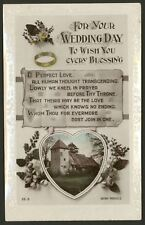 Wedding Day Greetings - 1920 Rotary Photo Wedding Postcard.5