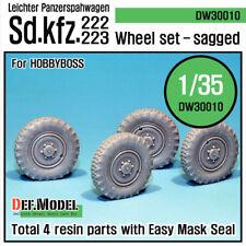 DEF. MODEL, WW2 GERMAN sd.kfz.222/223 Wheel set, DW30010, 1:35