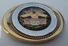 buckle with harley logo stainless steel gold plated belt