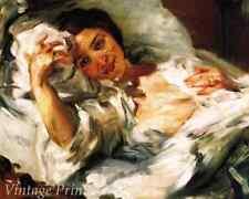 Morning Sun by Lovis Corinth - Woman Awake Bed Covers  8x10 Print 1370