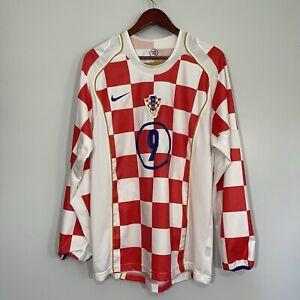 Croatia Soccer Futbol Team Jersey Long Sleeve Size Medium Player PRSO Number 9