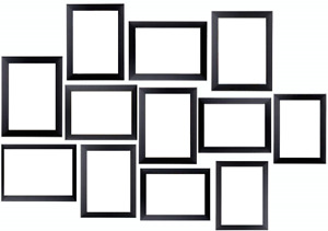 Multi Picture Frames 12 Pieces Frames Set Ready To Hang Or To Stand