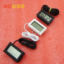 Aquarium Temperature Gauge Lcd Digital Thermometer For Fish With 12m Probe