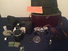 KONICA Autoreflex T Camera & Hexanon AR 57mm F 1.4 Lens & Hexanon Zoom Lens READ