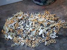 Brass CurtainTape Hooks Swish Plastic Pencil Pleat Fold Rail Header Tin Box Clip