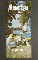 Vtg. 1968 Manitoba Campgrounds Travel Brochure Picnic & Trailer Facilities 5410
