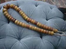 "LARGE ""AMBER'/COPAL TRADITIONAL AFRICAN TRADE BEADS OF ADORNMENT 410G. NECKLACE"