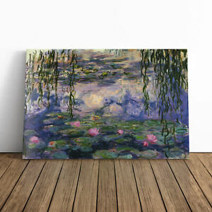 Claude Monet Water Lilies No.6 Framed Canvas Print Wall Art Picture Large