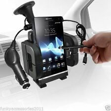 Big Windscreen Mount Suction Phone Car Holder Cradle+In Car Mobile Phone Charger