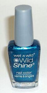 WET N WILD Wild Shine Nail Polish Nail Color BIJOU BLUE 443D New