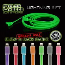 Color Cables: Lightning Charge & Sync Cable Glow in the Dark Apple iPhone 5 6 6+