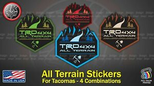 ALL TERRAIN Sticker Decal (5 COMBINATION) Fits on TOYOTA TACOMA TRD 4X4 Off-road