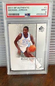 2011 SP Authentic Michael Jordan #1 PSA 9 Mint North Carolina Tar Heels 2011-12
