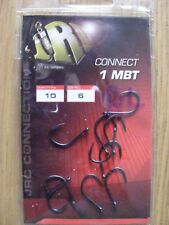 JRC CONNECT 1 MBT BARBLESS CARP HOOKS SIZE 6 - 10 HOOKS PER PACK