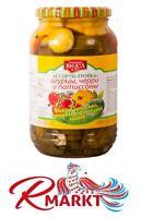 Gemüse Mix Tomaten Gurken Patissons eingelegt Ассорти Тройка Черрри/Огурцы/Пат.