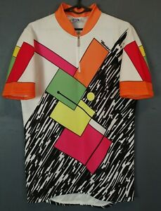 VINTAGE MEN'S SANTINI ITALY CYCLING BICYCLE SHIRT JERSEY MAILLOT SIZE 2XL 6 XXL