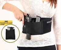NEW Belly Band Gun Holster for Concealed Carry with Metal Clip For Silent Draw