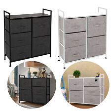 New Listing5 Drawers Fabric Dresser Chest Tower Clothes Storage Modern Bedroom Cabinet Usa