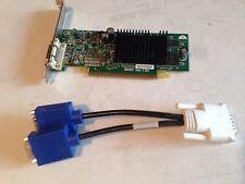 DUAL MONITOR VIDEO CARD ATI RADEON x300 FULL HEIGHT ATX 128MB DUAL VGA PCI-e 16x