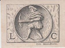 Ex-libris anonyme imprimé par MATOT-BRAINE, à Reims (Marne).