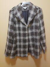 Cato woman 18/20W Tweed Beige/Brown Lined Coat Jacket