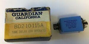 GUARDIAN 0121-1220-6100 TIME DELAY RELAY 1.0-10SEC 115VAC BD2-10-115A