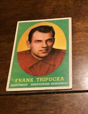1958 Topps CFL #21 Frank Tripucka Saskatchewan Roughriders
