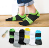 6 Pairs Men's five finger toe Cotton Breathe Ankle Casual Sports Socks Low Cut