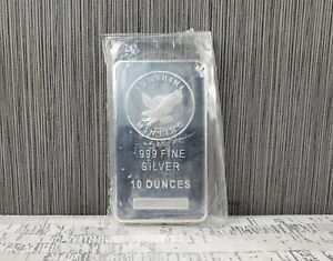 NEW Sunshine Minting 10 oz .999 Fine Silver Bar Ten Ounce Bullion Sealed