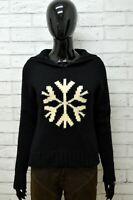 Cardigan Donna GAP Taglia XS Felpa Maglione Pullover Sweater Woman Lana Nero