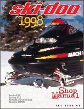 1998 Ski-Doo Tundra Touring Formula Scandic Snowmobiles Service Manual on a CD