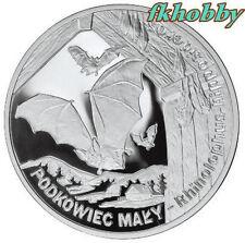 Poland 2010 silver 20 zl Podkowiec Lesser Horseshoe Bat Petit Rhinolophe Battere