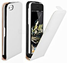 For iPhone 5C Genuine Leather Flip Case Ultra Slim Shield Protective Light Cover