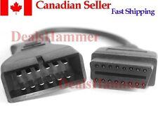 GM 12 pin OBD II OBD2 Diagnostic Adapter Lead Cable B26 Free Shipping frm CANADA