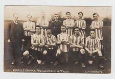 WADSELEY BRIDGE WESLEYAN Football Team Vintage Real Photo Postcard Yorkshire