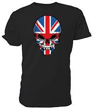 Best of British, Union Jack Skull T shirt - Choice of size & colours!