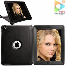 For iPad 2 3 4 Case Heavy Duty W/ Screen Protector (Stand fit Otterbox Defender)