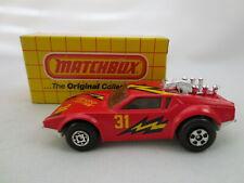 Vintage 1975 Matchbox Grease Lightnin De Tomaso Pantera 08 Diecast Car Macau Box