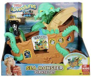 Thomas & Friends Sea Monster Pirate Set New Boxed Uk Seller DVT14 🇬🇧 Birthday