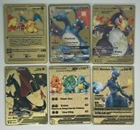 Metal Pokemon Cards Charizard Venusaur Blastoise 1st Ed. Base Set Custom