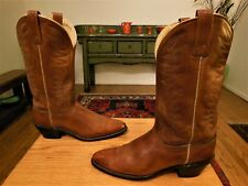 Vintage ACME Women's Golden Brown Leather Western Cowboy Boots Size 9A  XLNT!