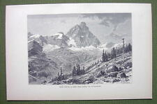 MATTERHORN Alps Peak of Mont Cervin - 1880s Antique Print
